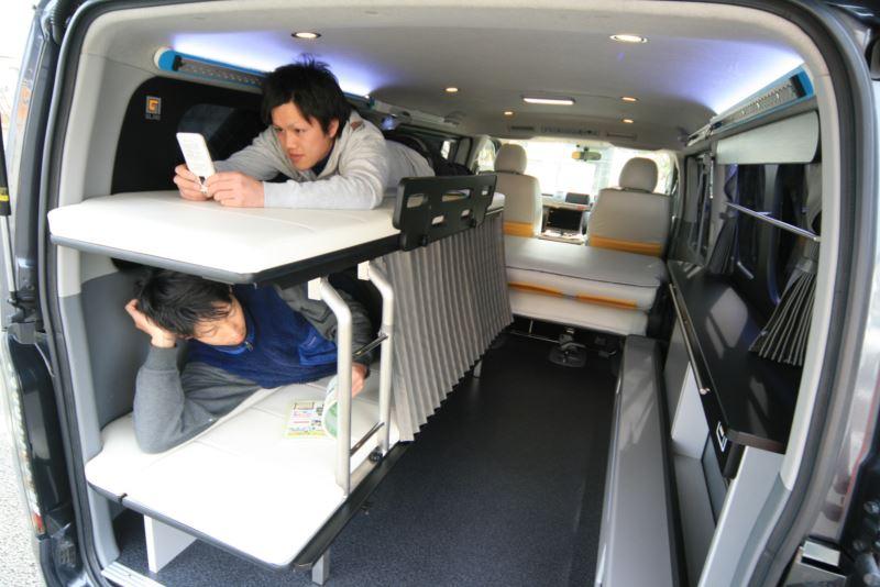 GLAD ステップベッド 片面2段ベッド 車中泊に最適