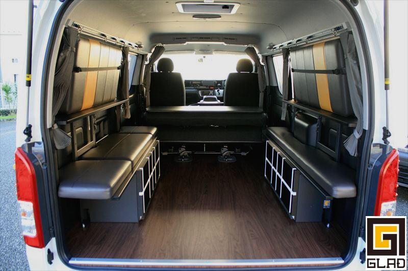 ビジネスも!レジャーも!Gブロックベッド ベッド下収納もでき快適な車中泊の旅を ハイエース専用 通販ベッド