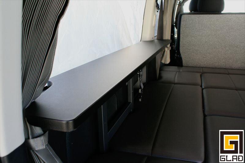 ハイエース GLAD Gブロックベッドキット 車中泊にも便利 テーブル