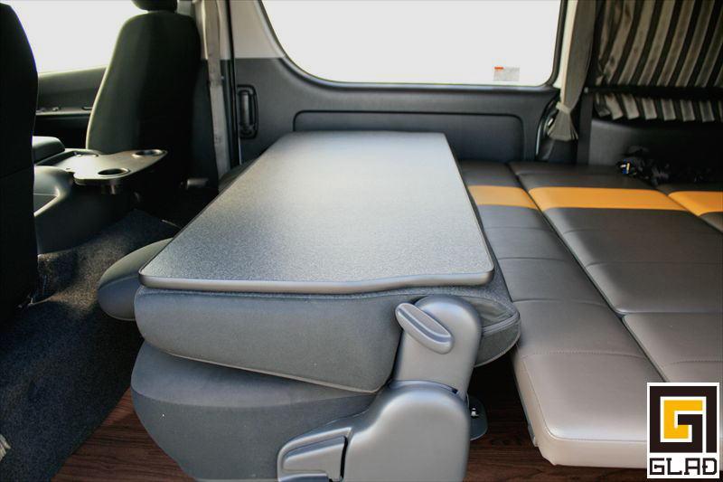 ハイエース セカンドシート背面パネル 背もたれパネル テーブル 車中泊