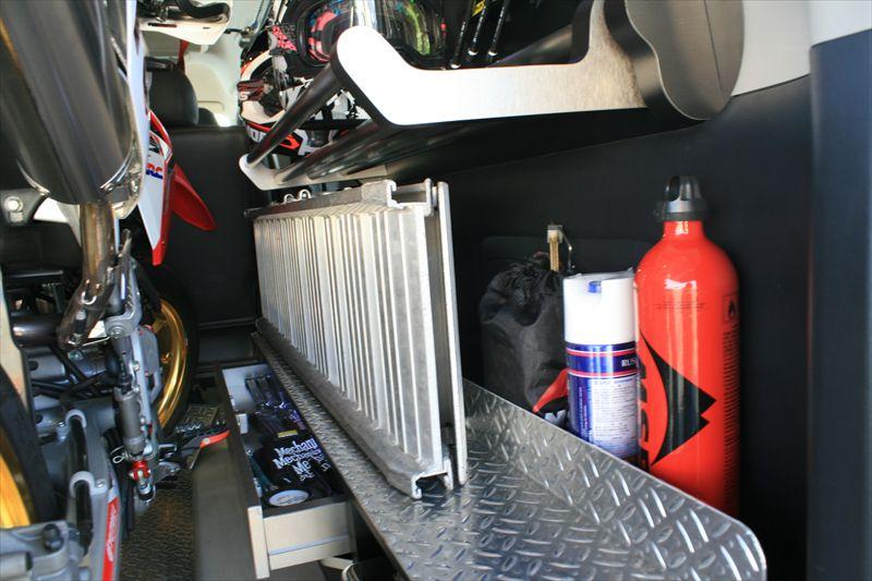 バイク積載トランポスイングトレーモトボックス