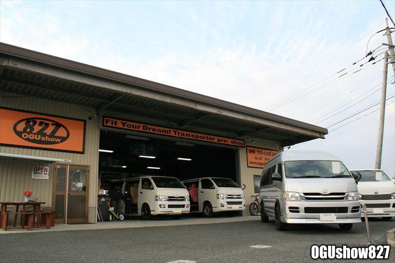 ハイエース、キャラバン、バイク、釣り、キャンプ、車中泊、サーフィン、スノボ、いろんなトランポ入庫中 九州熊本のトランポ専門店オグショー827