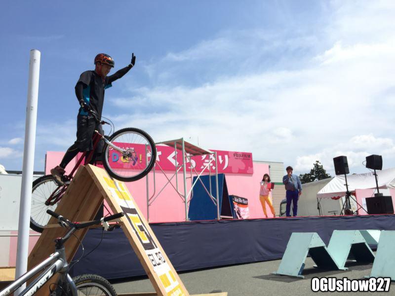GLADデモカー 富士フィルムさくら祭りに出展 森海盛バイクトライアルショー
