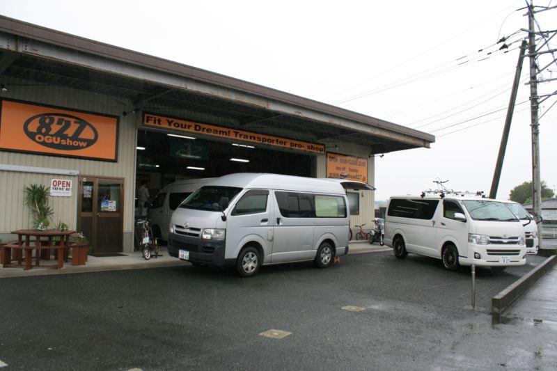 九州熊本のトランポ専門店オグショー827 車中泊 ベッドや棚など内装カスタムご相談ください