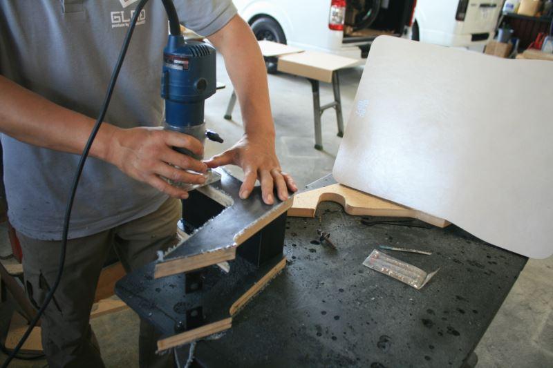 オグショー827プロデュースGLAD新商品「フットレストパネル」「クランプテーブル」