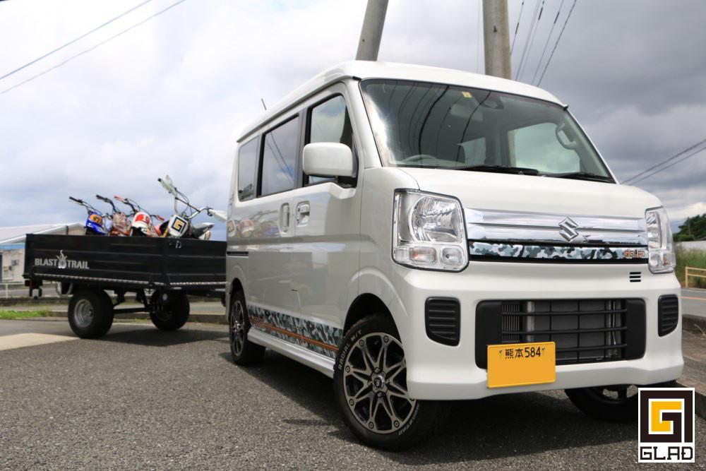 ハイエース、キャラバン、エブリー いろんなワンボックスカー製作中! 九州熊本のトランポ専門店オグショー827