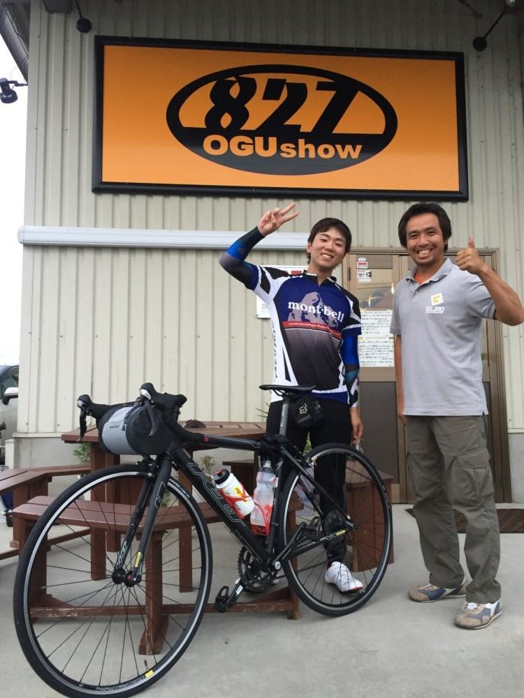ロードバイク自転車で福岡からご来店!九州熊本のトランポ専門店オグショー827