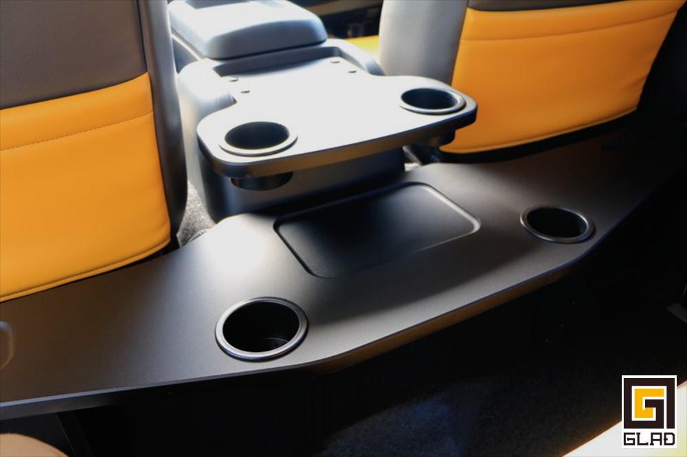 ハイエース セカンドシート用テーブル GLADスマートテーブル&Jr ドリンクホルダー付