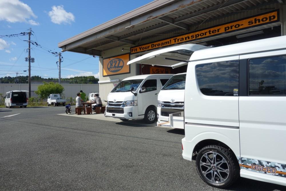 寒さ対策にFFヒーター ハイエース製作中 九州熊本のトランポ専門店オグショー827