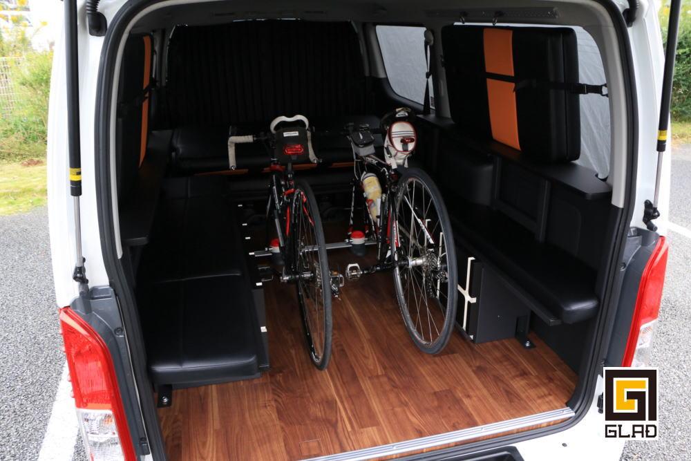 GLAD Gブロックベッド ハイエース 自転車積載トランポ 九州熊本 FUNトラクション