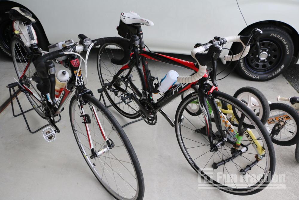 明日はサイクルイベントにGLADデモカー出動!ハイエースキャラバンエブリーの内装架装 九州熊本のFUNトラクション