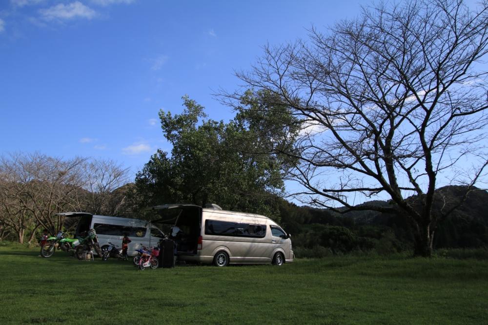 ハイエースにオフロードバイクを積んで鹿児島へ行ってきました