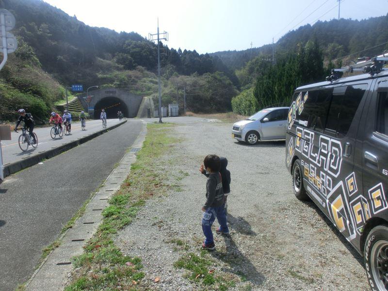 天草サイクルマラソン GLADデモカーで応援します!