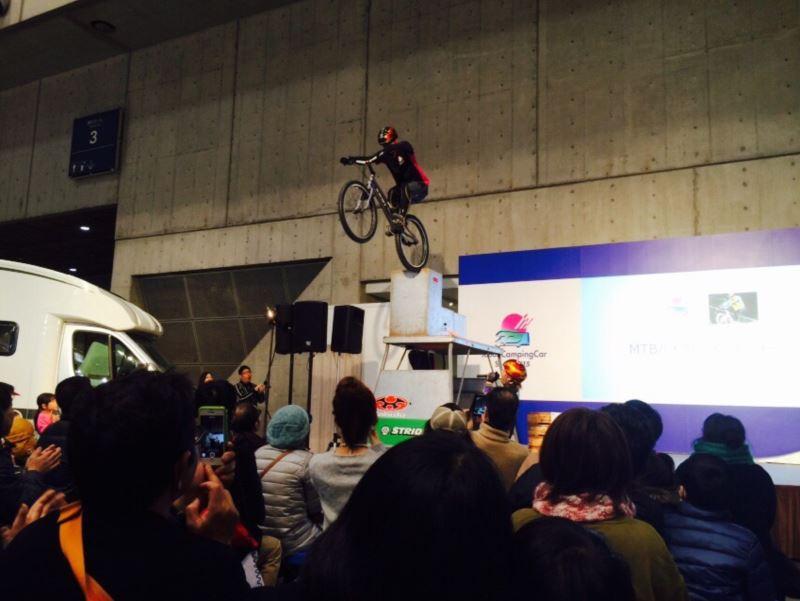 森海盛バイクトライアルショー ジャパンキャンピングカーショー