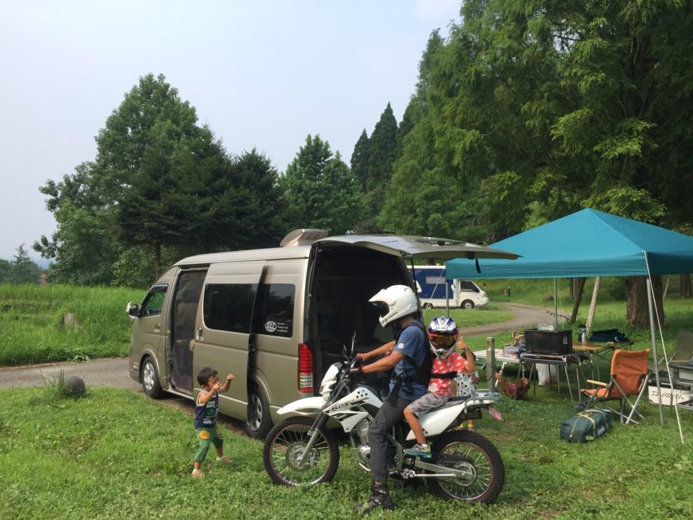 ハイエースで車中泊キャンプ 熊本県服掛松キャンプ場へ
