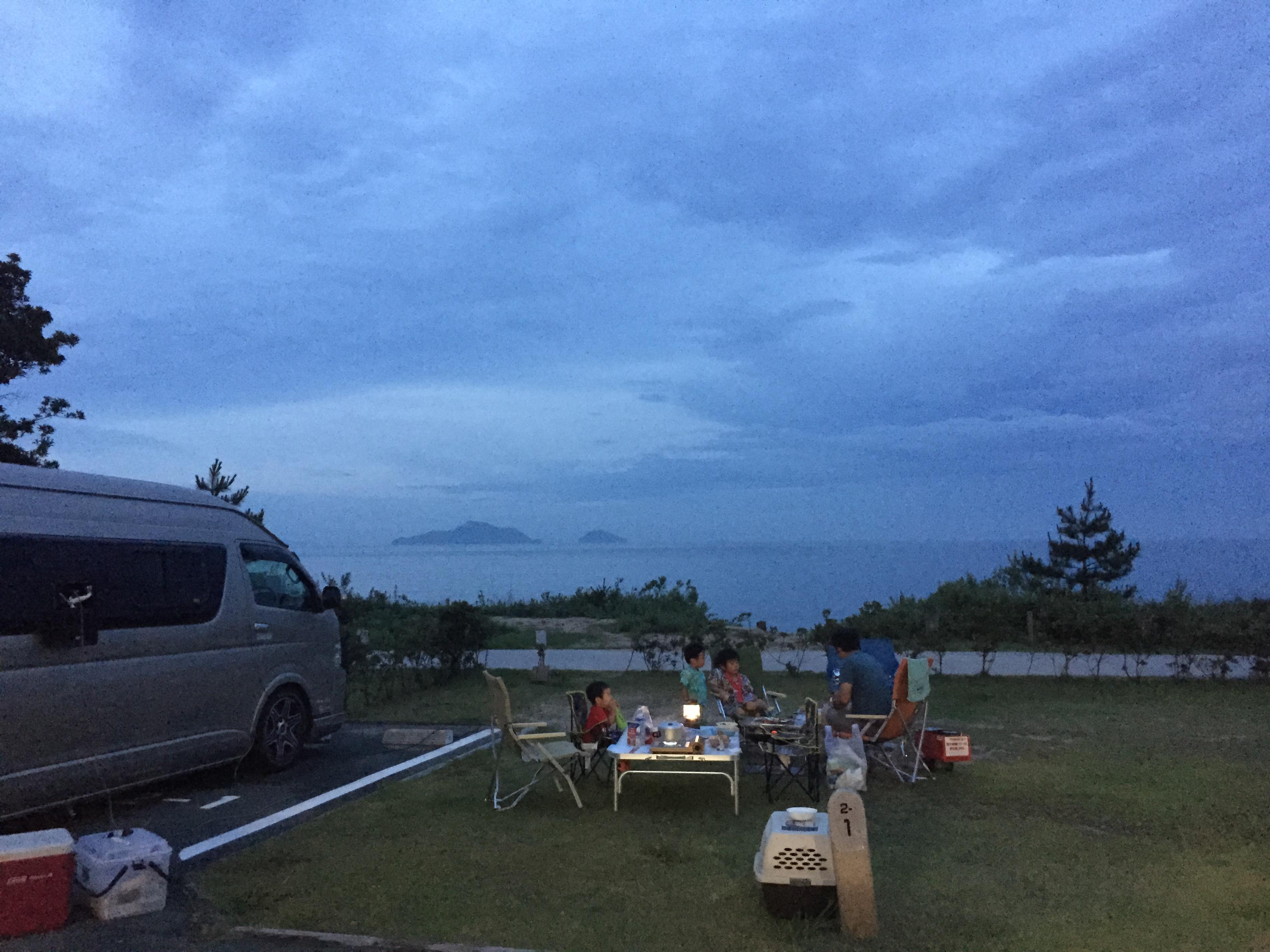 ハイエーストランポで車中泊 海水浴キャンプへ行ってきました!