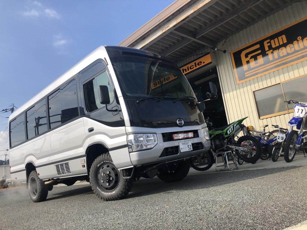 日野リエッセⅡ 4WDキャンピングカー完成